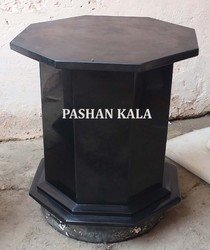 Black Marble Table Base