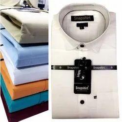 Collar Neck Mens Plain Cotton Shirts