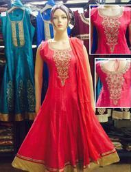 Stylish silk designer Anarkalis for Ladies