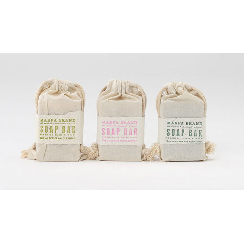 Off White Organic Soap Pouch