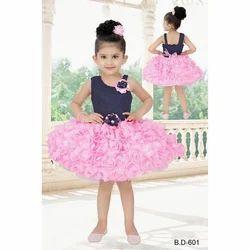 Party Wear Girls Pink Frock