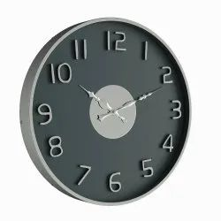 Black Stainless Steel Promotional Round Wall Clock