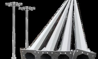 galvanized iron gi 6 meter galvanized octagonal street pole
