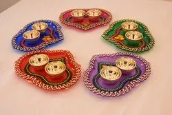 Heart Shaped Kumkum Platters