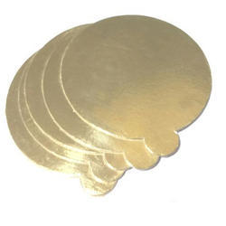 Gold Foil Round Cake Base Board With Tab