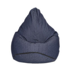Blue Denim Bean Bag