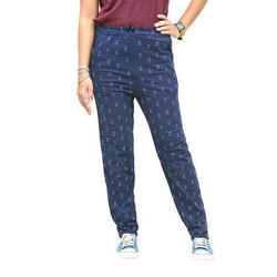 Ladies Blue Cotton Lower
