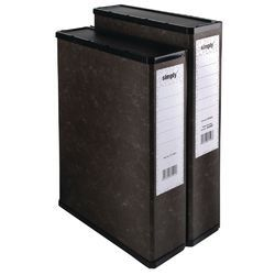 Black A4 Paper Box File