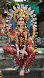 GLASSPOLL ART Multicolor Fiber Lakshmi Statues