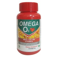 Ayuherbs Omega 3 Softgel Capsules, Packaging Type: Plastic Bottle