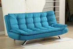 Blue Wooden Sofa Cum Bed (1507)