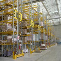 10-15 Feet Yellow And Silver Aluminum Pallet Rack, For Warehouse