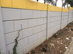 Concrete Block Garden Wall