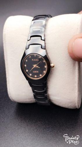 Black Ceramic Rado Watch For Ladies d2127c48900a