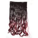 5 Inch Maroon Brown Mix Curly Hair Extension