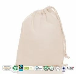 Fair Trade Organic Cotton Drawstring Bag
