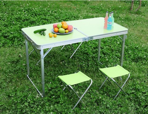 Foldable Pick Nick Table Aluminum 4 Ft Folding With Carrying
