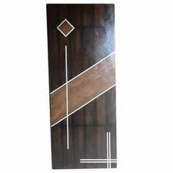 Wood Brown Laminated Entrance Door