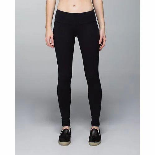 e8b503bd817fe Ladies Black Plain Yoga Pant, Size: L & XL, Rs 375 /piece   ID ...