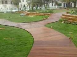 Brown Wooden Deck Flooring