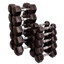 Presto Hexa Dumbbells (Rubber Coated)