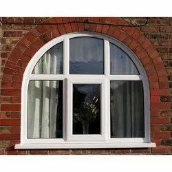 White Modern UPVC Arched Window