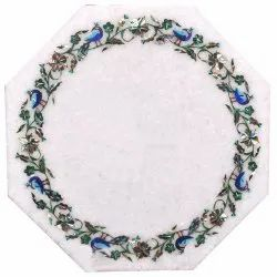 Table Top Pietra Dura Art Work Marble Stone Table Tops