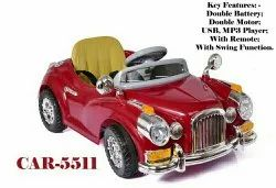 1-6 Red Battery Operated Ride on Vintage Car for Kids