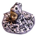 Women's Jersey Stretchable Material Floral Printed Hijab Scarf Dupatta