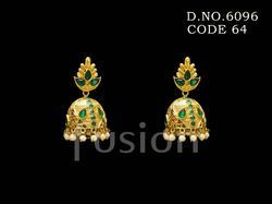Traditional Polki Jhumka Earring