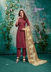 Dehliz Trendz Paalav Silk Ready Made Salwar Kameez