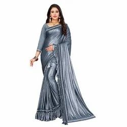 Elegant Party Wear Ruffle Saree