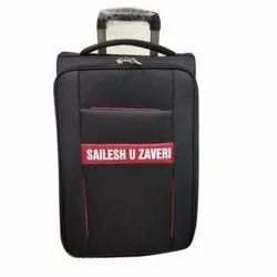 Black Polyester Luggage Traveling Trolley Bags