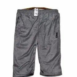 Knee Length Gray Mens Glender Capri, Machine wash