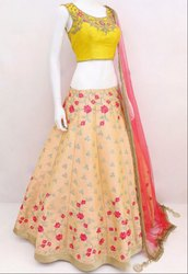 Pale Yellow Navratri Special Chaniya Choli