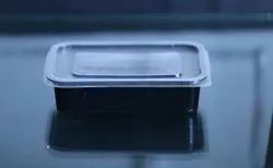 ABHINAV Black Rectangular food Container, Size/Dimension: 3*6, Capacity: 250ml To 500ml