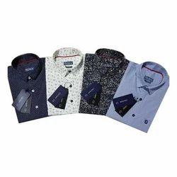 Mens Cotton Collar Neck Casual Shirts, Size: S-XL