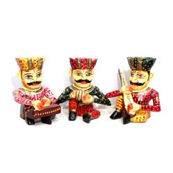AKS Creations Wooden Instrument Players, For Decoration Purpose