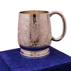 Anand Crafts Brass Bowl Silver Plated Ber Mug