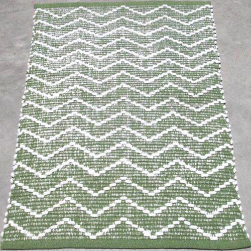 Rectangular Cotton Chenille Rug, Size: 60x90 cm