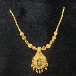 916 Hallmark Jewellery Golden Pure Gold Necklace, Weight: 32 Grams