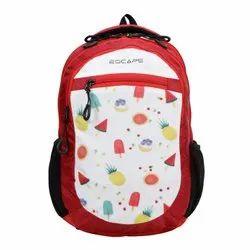Unisex X-Rib Polyester AV Escape School Backpack - Fruits Print