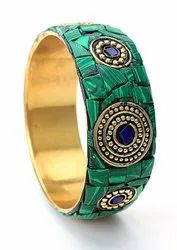 Party Traditional Mosaic Braas metal bangles for women