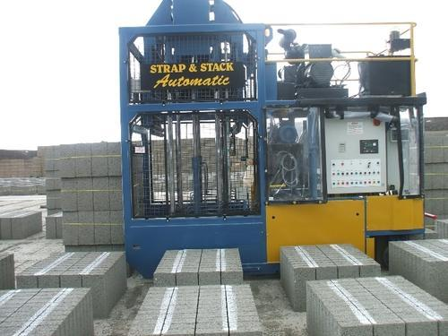 Mcgirr Engineering Fully Automatic Strapping and Stacking Machine, For Construction,Block Making etc