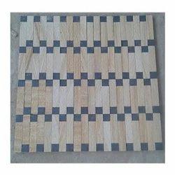 Teak Black Mosaic Wall Cladding, 25-40mm