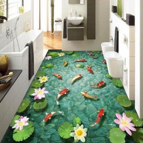 Bathroom 3d Flooringsurface Treatment Chemical Rs 300 Square Feet