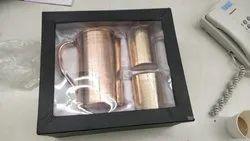 Kitchen Utensils Round Copper Jug Glass Set, Size: Medium, Capacity: 1, 35 litre