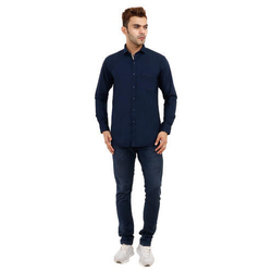 Full Sleeves Plain Cotton Shirt