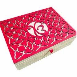 Cardboard Ek Omkar Desginer Wedding Card