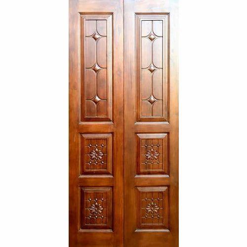 Teak Wood Matt PU Teak Wooden Panel Door, Adc-016